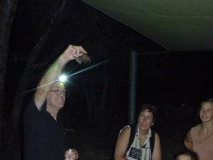 Rob releasing a bat