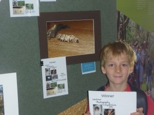 Mitchell Drysdale with his winning photo in the junior section