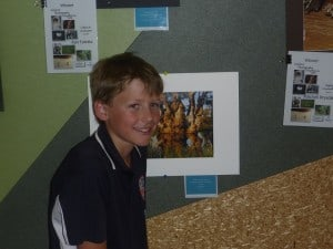 Toby Prothero with his winning photo of the 'pirate ship' tree found on the property Wetlandia.