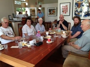 Yea River Catchment Landcare group enjoy morning tea at Gallery 34