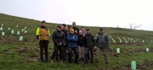 JBWere volunteers planting on a farm in Glenburn