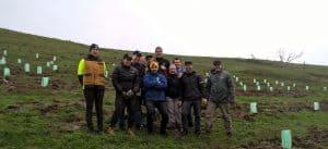 JBWere volunteers planting on a farm in Glenburn