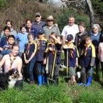 Yea Wetlands CoM and Yea Scout Group volunteers